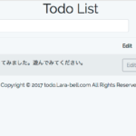 Laravel初心者がTodoアプリ作ってみた。MVC編
