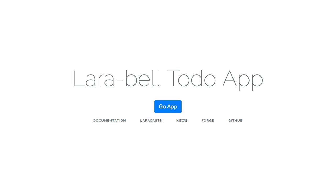 Laravel初心者がTodoアプリ作ってみた。概要・設定編